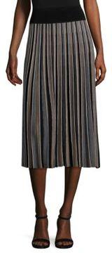 Agnona Wool Plisse Skirt