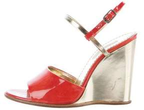 Marc Jacobs Leather Wedge Sandals