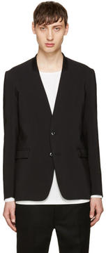 Attachment Black No Lapel Blazer