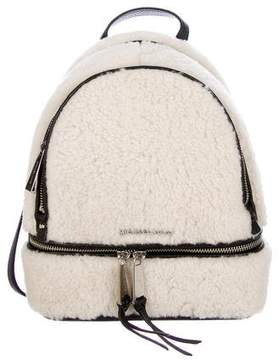 Michael Kors Rhea Shearling Backpack - NEUTRALS - STYLE