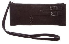 Gucci Suede Wristlet Clutch - BLACK - STYLE