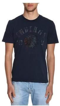 Aeronautica Militare Men's Blue Cotton T-shirt.