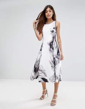 Coast Floral Print Scuba Fit & Flare Dress