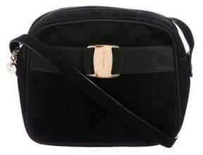 Salvatore Ferragamo Vintage Suede Vara Crossbody Bag