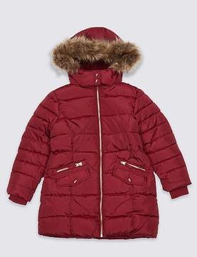 Marks and Spencer Faux Fur Padded Coat With StormwearTM (3-16 Years)