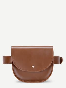 Shein Saddle Flap PU Bum Bag
