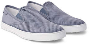 Tod's Perforated Nubuck Slip-On Sneakers