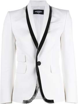 DSQUARED2 beaded hem tuxedo jacket