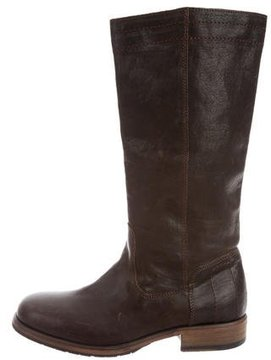 Fiorentini+Baker Leather Round-Toe Boots