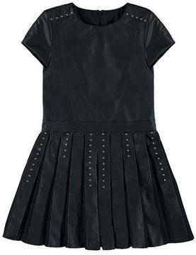 Mayoral Faux-Leather Studded Dress, Black, Size 8-16