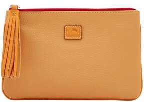 Dooney & Bourke Patterson Leather Carrington Pouch - FAWN - STYLE