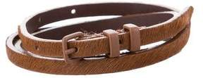 Max Mara Ponyhair Skinny Belt