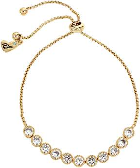 Betsey Johnson BETSEY BLUE CRYSTAL SLIDER GOLD NECKLACE