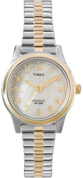 Timex Women's Essex Avenue Watch, Two-Tone Extra Long Stainless Steel Expansion Band