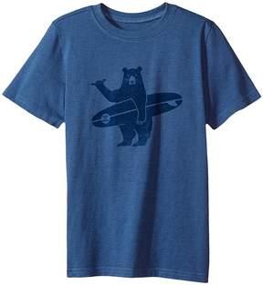 Life is Good Surf Bear Crusher Tee Boy's T Shirt