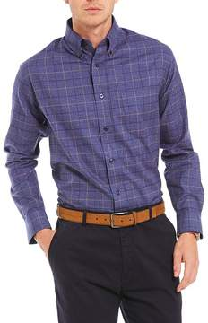 Daniel Cremieux Signature Large Check Heather Long-Sleeve Woven Shirt