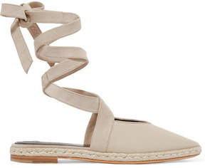 J.W.Anderson Suede-trimmed Canvas Espadrilles - Beige