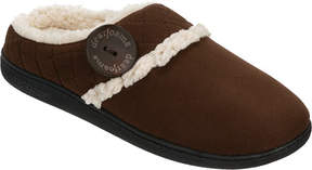 Dearfoams Quilted Microsuede Clog Slipper with Memory Foam (Women's)
