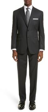 Canali Men's Classic Fit Stripe Wool Suit