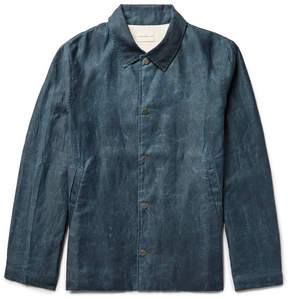 Simon Miller Distressed Cotton Coach Jacket