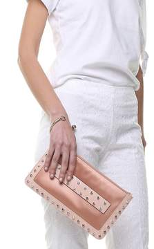 RED Valentino Crystal-embellished Leather And Satin Clutch