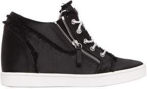 Giuseppe Zanotti Design 80mm Fringed Satin Wedged Sneakers