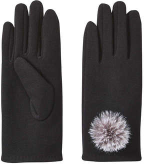 Joe Fresh Women's Pompom Gloves, JF Black (Size M/L)