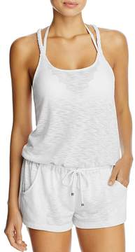 Becca by Rebecca Virtue Breezy Basic Romper Swim Cover-Up