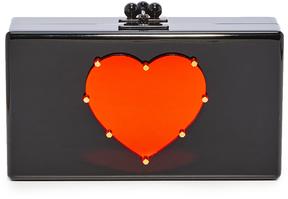 Edie Parker Jean LG Studded Heart Clutch