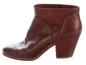 Rachel Comey Embossed Leather Ankle Boots