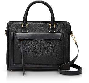 Rebecca Minkoff Bree Medium Top Zip Satchel - BLACK - STYLE