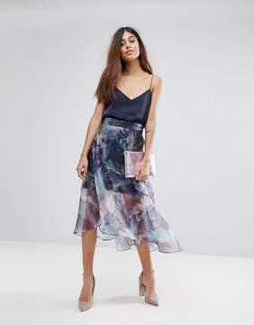 Coast Organza Printed Skirt