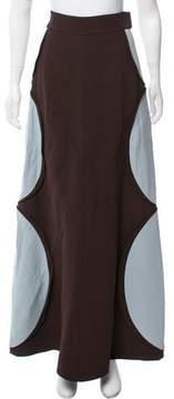 DELPOZO Colorblock Maxi Skirt