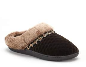 Isotoner Women's Mildred Diamond Quilted Velour Hoodback Slippers