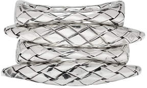 Bottega Veneta Silver Woven Rings