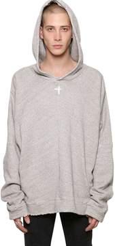 RtA Oversize Sloth Hooded Cotton Sweatshirt