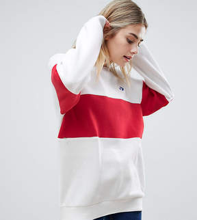 Converse Cons Skate Sweatshirt In White And Red