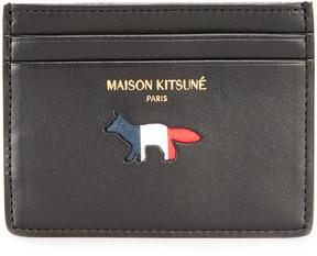 MAISON KITSUNÉ Tricolor Fox Card Case