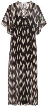 Rachel Zoe Carroll Printed Crinkled Silk-chiffon Maxi Dress - Black