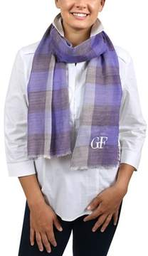 Gianfranco Ferre D89c3308/3 Lavender Checkered Scarf.