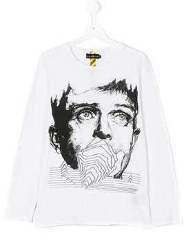 John Richmond Kids Ian Curtis print T-shirt