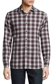 Black & Brown Black Brown Casual Cotton Button-Down Shirt