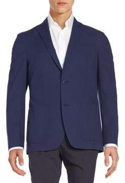 Saks Fifth Avenue BLACK Regular-Fit Cotton Blazer