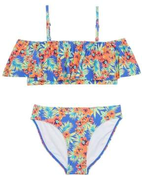Tucker + Tate Floral Ruffle Two-Piece Swimsuit