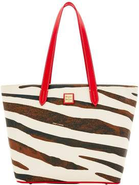 Dooney & Bourke Serengeti Large Zip Shopper - ZEBRA RED - STYLE
