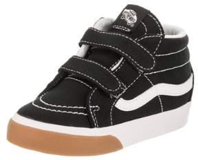Vans VN-0A348JQR4 : Toddler SK8-Mid Shoes Gum Bumper Black/True White (6 M US Toddler)