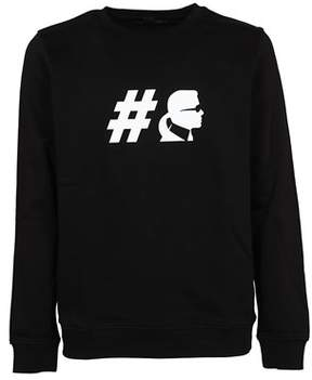 Karl Lagerfeld Men's 500999990 Black Cotton Sweatshirt.