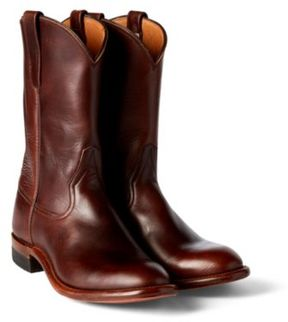 Ralph Lauren Leather Dress Roper Boot Dark Brown 9