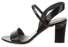 Reed Krakoff Patent Leather Slingback Sandals