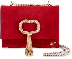 Roger Vivier Club Chain Suede Evening Clutch Bag